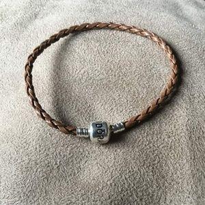 Dark Brown Leather Pandora Bracelet